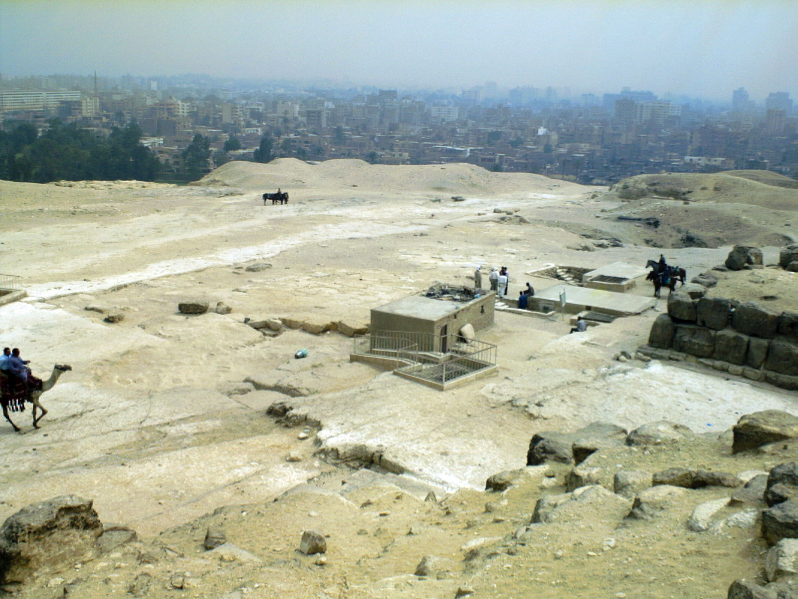 Eastern Cemetery: Site: Giza; View: Khufu pyramid, G 7000 X