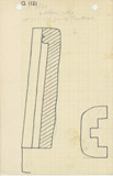 Maps and plans: G 1121, Plan and section of north niche