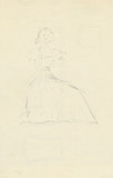 Drawings: G 2184, Shaft A (doodle sketch on back of tomb card)