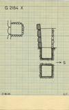 Maps and plans: G 2184, Shaft X