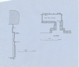 Maps and plans: G 1020, Plan and section of chapel