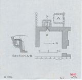 Maps and plans: G 1104+1105: G 1104, Plan of chapel area & Section of serdab