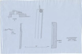 Maps and plans: Plan and section of niches of G 1304 and G 1360