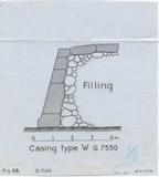 Maps and plans: G 7550, Section of casing type W