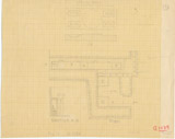 Maps and plans: G 1039, Plan (partial) & Section of serdab & Drawing of offering stone