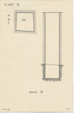 Maps and plans: G 1407, Shaft B