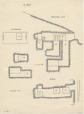 Maps and plans: G 1607, Plan and section of rock-cut tomb