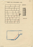 Maps and plans: G 4340, Shaft A, burial chamber, north wall casing