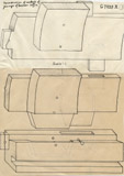 Drawings: G 7935, Shaft X, wood coffin