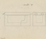Maps and plans: G 7310-7320: G 7310, Shaft B, sarcophagus