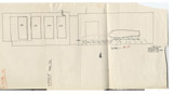 Maps and plans: G 7524, Rock-cut chapel (rooms a & b), elevation looking E