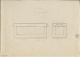 Drawings: G 7530-7540: G 7530, Shaft A, sarcophagus