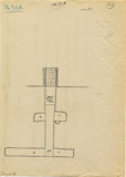 Maps and plans: G 7631, Shaft A, section south