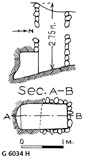 Maps and plans: G 6034, Shaft H