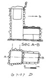 Maps and plans: G 7157, Shaft D