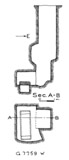 Maps and plans: G 7759, Shaft W