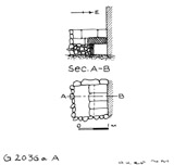 Maps and plans: G 2036a, Shaft A
