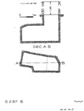 Maps and plans: G 2187, Shaft B