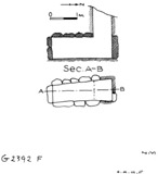 Maps and plans: G 2392, Shaft F
