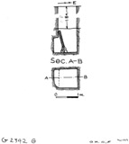 Maps and plans: G 2392, Shaft G