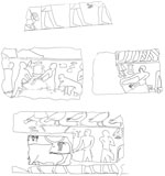 Drawings: G 2370: fragments of relief from room A and B