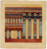 Drawings: Painting (watercolor) of sarcophagus from G 7340