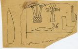 Drawings: G 7510: fragment of drum lintel