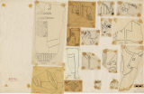 Drawings: Fragments of relief from G I-a, G I-b, Street G 7000, G 7110-7120