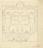 Drawings: Isis Temple: offering stone from Room E