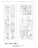 Drawings: G 7101: relief from Room D, central pillar and Room D, N wall, entrance, E pilaster