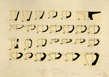 Drawings: Menkaure Valley Temple: vessels, diorite