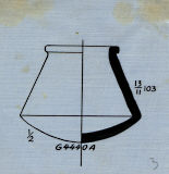 Drawings: G 4440, Shaft A: pottery, model jar