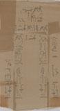 Drawings: G 7754: relief from false door of Nisutnefer