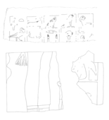 Drawings: G 7210-7220: relief fragments