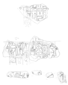 Drawings: Relief fragments from G 7310-7320 and Street G 7300