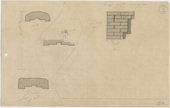 Maps and plans: G 1218: Plans of false door and section of brickwork