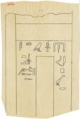 Drawings: G 2088: false door from room b