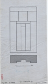 Drawings: G 4520, Elevation and plan of false door from G 4520