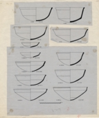 Drawings: Pottery, bowls from G 1223, G 2381 , G 2415, G 4733, G 4811+4812, G 4822, G 6020, G 6052, G 7102, G 7112, G 7530-7540