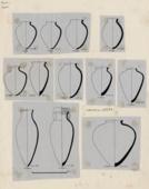 Drawings: Pottery, jars from G 2356, G 2413, G 2381, G 4512, G 5221, G 5223, G 5232, G 5380, G 7530-7540, G 7810