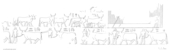 Drawings: G 2091: relief from W wall of corridor, north end