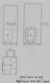 Drawings: G 7000 X: bed canopy, copper socket from room beam, left, back