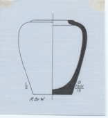 Drawings: G 1201: pottery, jar