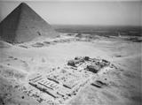 Khafre Pyramid Complex: Site: Giza; View: Khafre pyramid temple