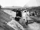 Khafre Pyramid Complex: Site: Giza; View: Khafre causeway