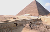 Sphinx Complex: Site: Giza; View: Sphinx, Khufu Pyramid