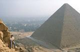 Khafre Pyramid Complex: Site: Giza; View: Khafre Pyramid, Khufu Pyramid