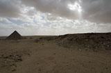 Western Cemetery: Site: Giza; View: Menkaure pyramid, Harvard Camp