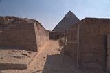 Western Cemetery: Site: Giza; View: G 2136, G 2155, Djednefret (G 2136a), Kaninisut III (G 2156a)