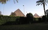 Khufu Pyramid Complex: Site: Giza; View: Khufu pyramid, Khafre pyramid